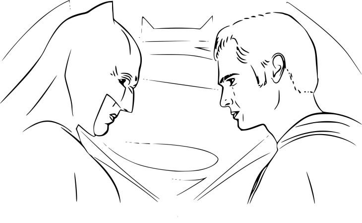 Coloriage Batman vs Superman à imprimer
