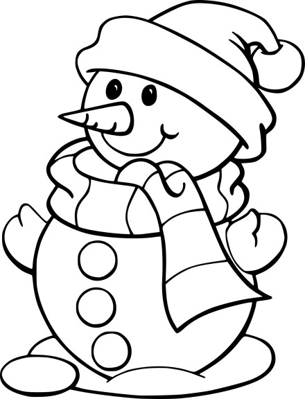 Coloriage bonhomme de neige