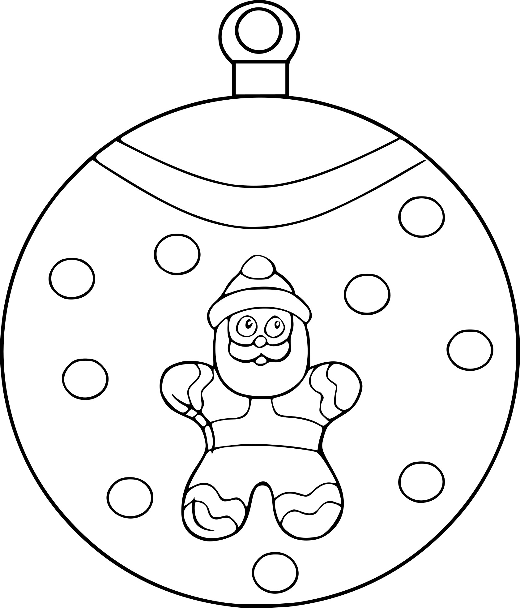 Coloriage boule p re no l imprimer - Coloriage boule noel ...