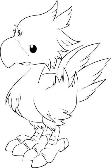 Coloriage Chocobo