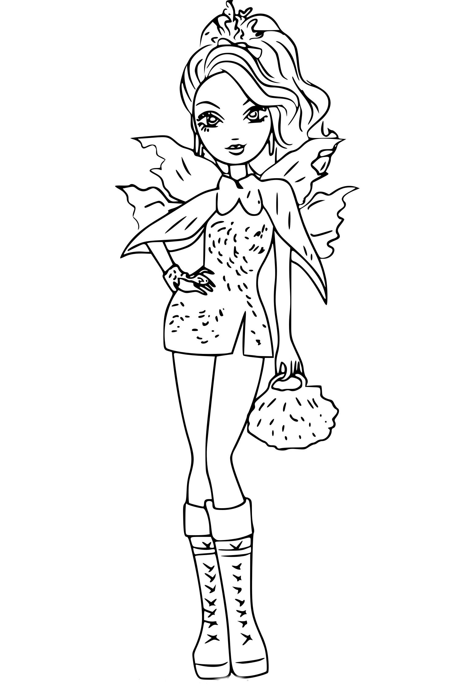 Coloriage Faybelle Thorn Ever After High A Imprimer