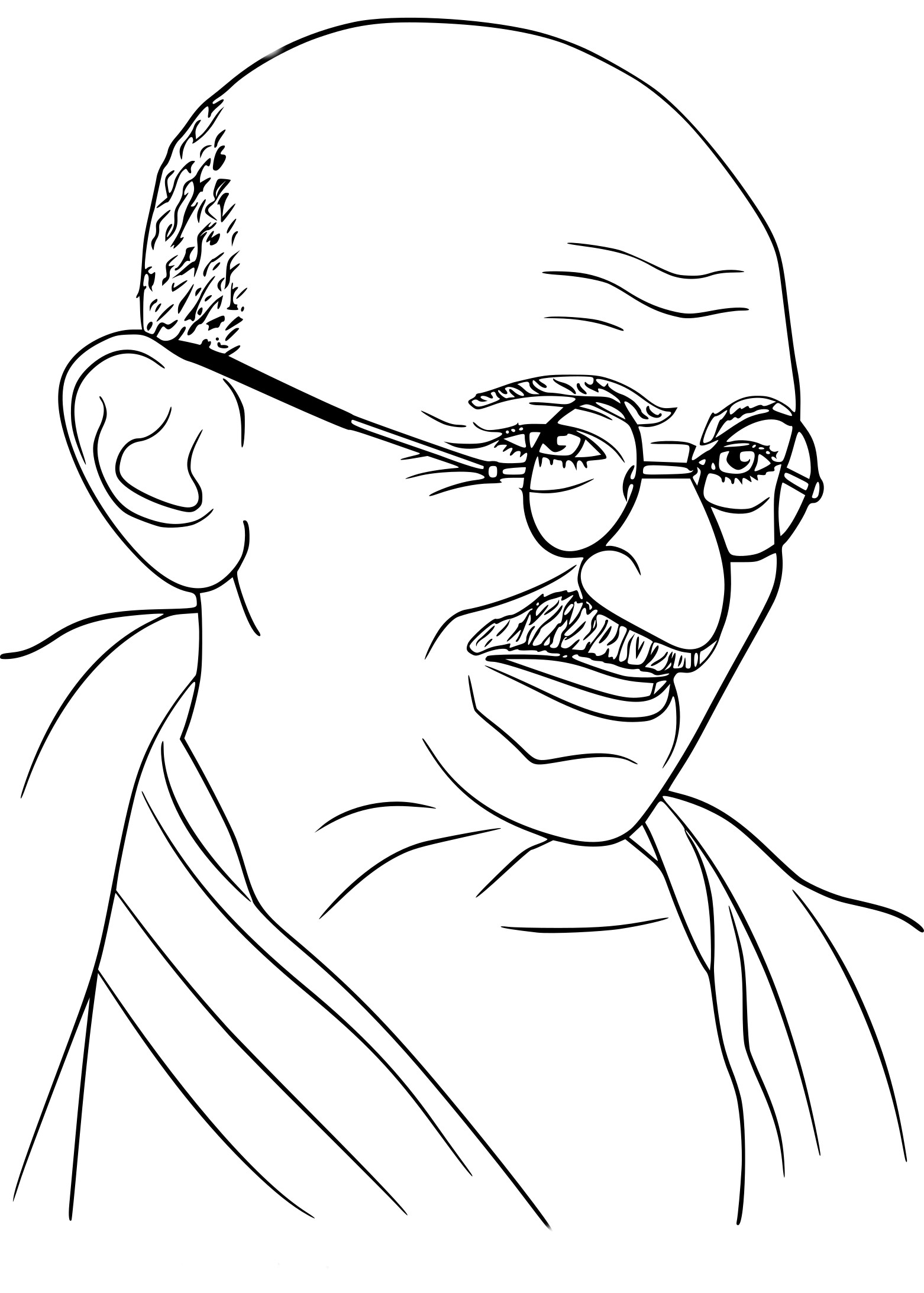 gandhiji standing coloring pages - photo#15