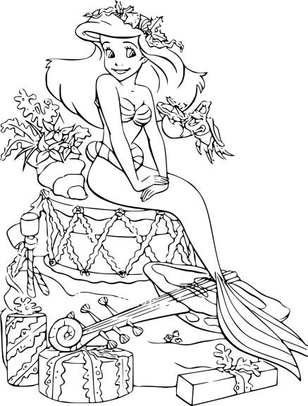 Coloriage La Petite Sirène Noel