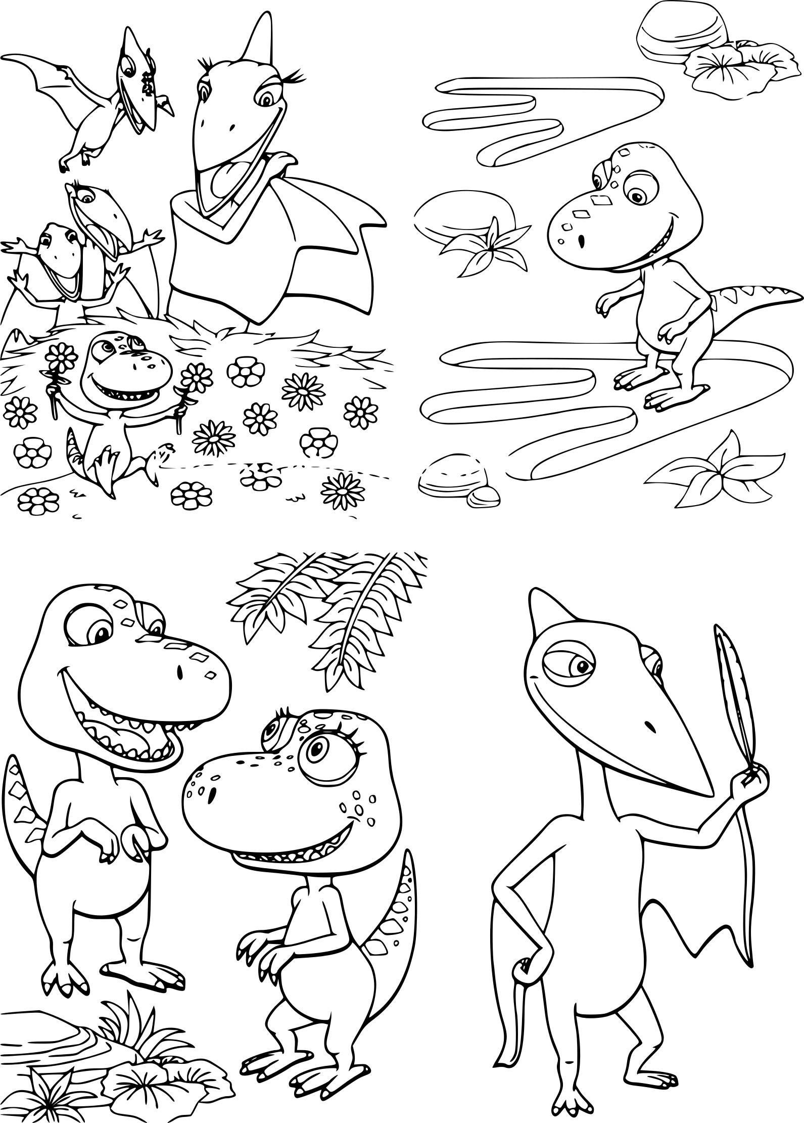 coloriage le dino train  u00e0 imprimer