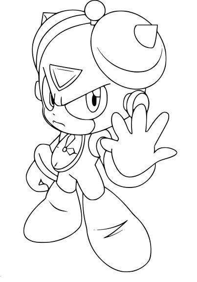 Coloriage Megaman Time Man