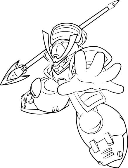 Coloriage Megaman Yamato