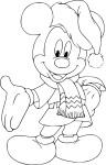 Coloriage Mickey Noel