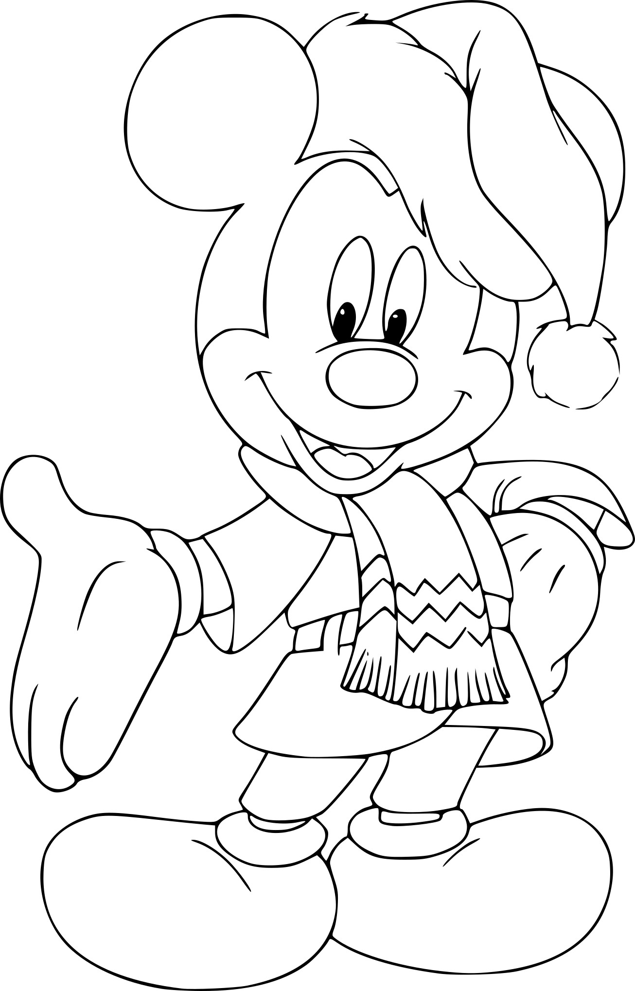 Coloriage Mickey Noel