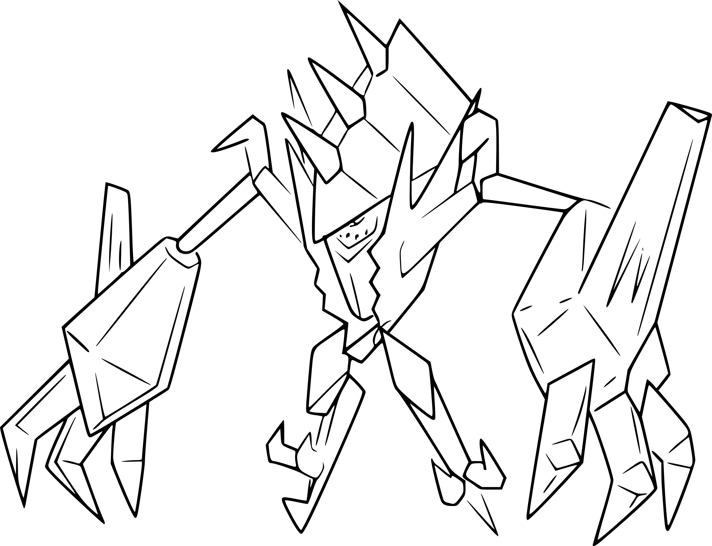 Coloriage Necrozma Pokemon U00e0 Imprimer Jeffersonclan