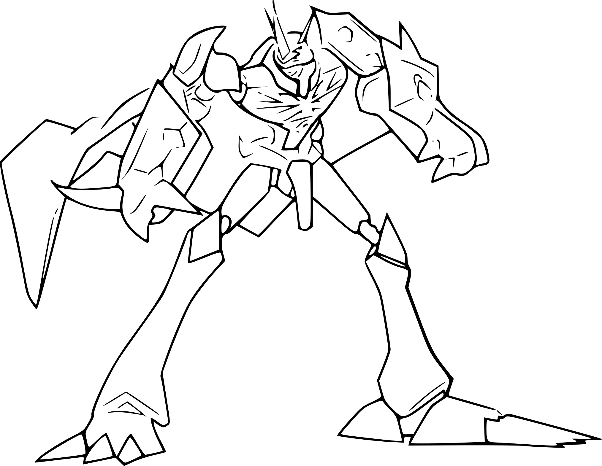 Coloriage Omnimon Digimon