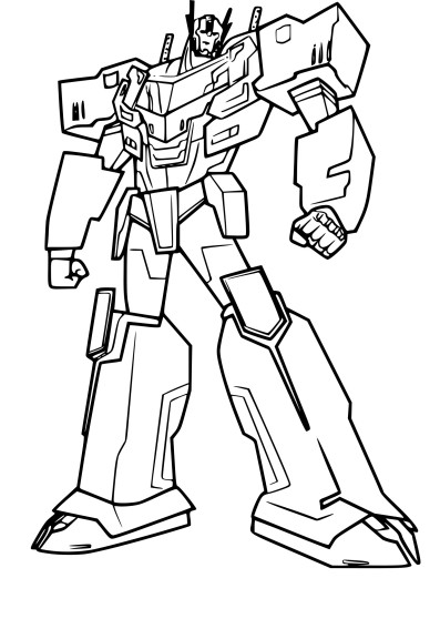 Coloriage Optimus Prime
