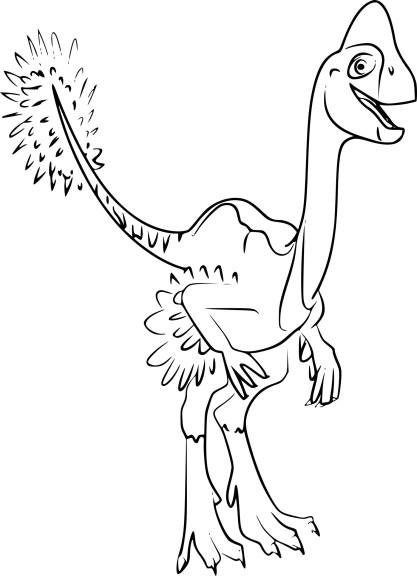 Coloriage Oviraptor Dinosaure