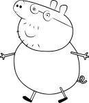 Coloriage papa cochon