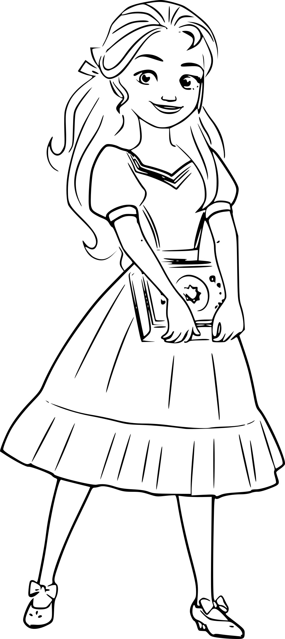Coloriage princesse Isabel