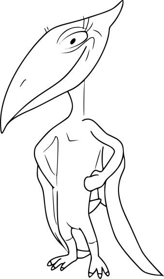Coloriage Pteranodon dinosaure