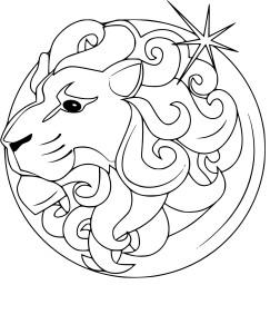 Coloriage signe Lion