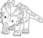 Coloriage Styracosaurus dinosaure