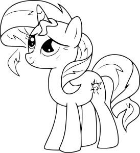 Coloriage Sunset Shimmer mon petit poney