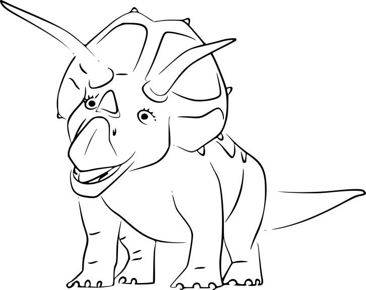 Coloriage Triceratops dinosaure à imprimer