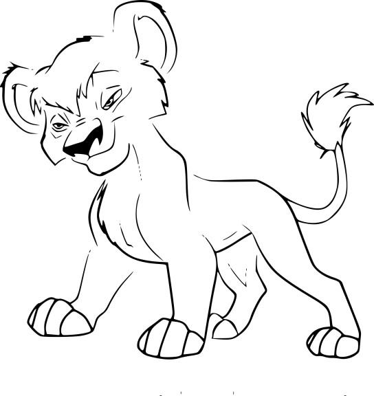 Coloriage Vitani Roi Lion 2