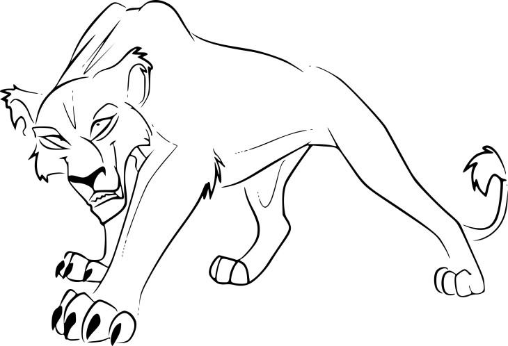 Coloriage Zira Roi Lion 2