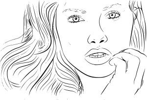 Coloriage Adriana Lima