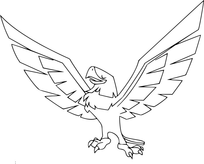Coloriage aigle Animal Jam