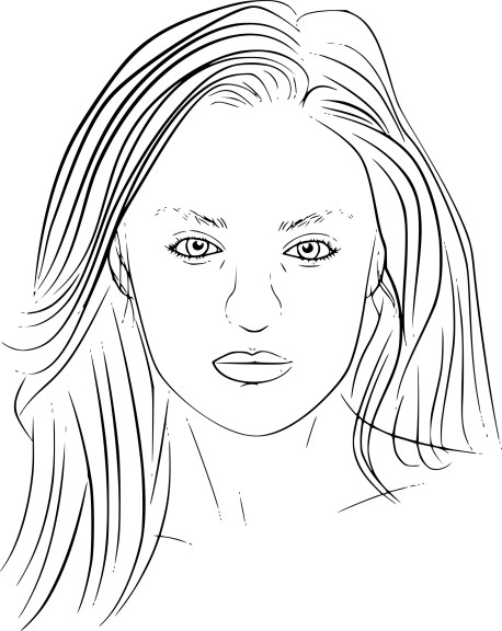 Coloriage Candice Swanepoel