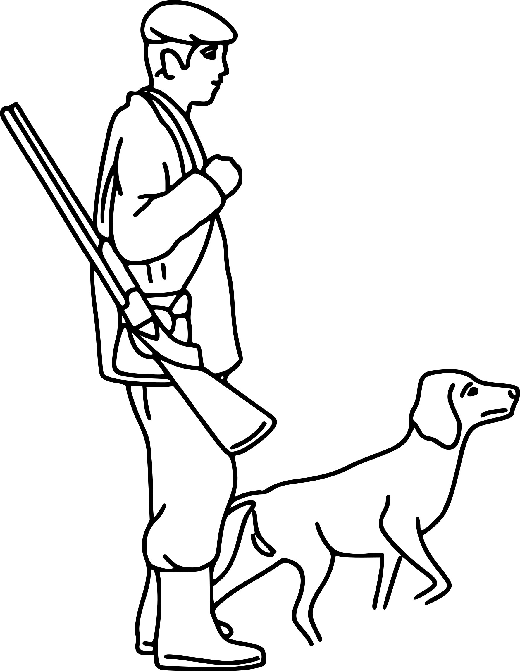 Coloriage chasse