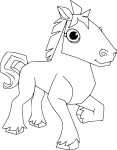 Coloriage cheval Animal Jam