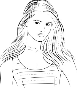 Coloriage Dianna Agron