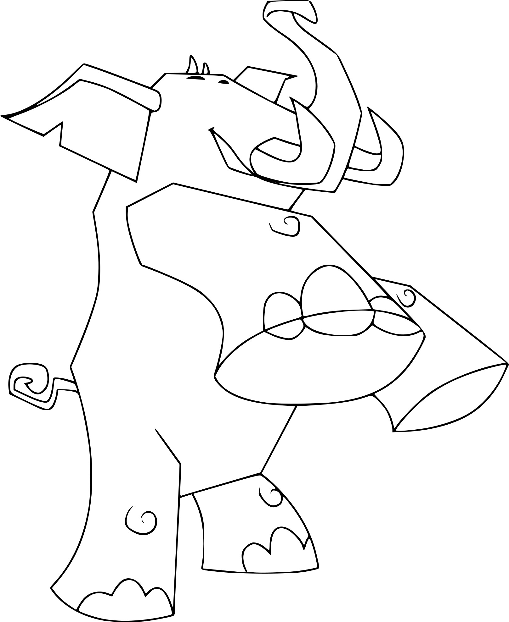 Coloriage Elephant Animal Jam