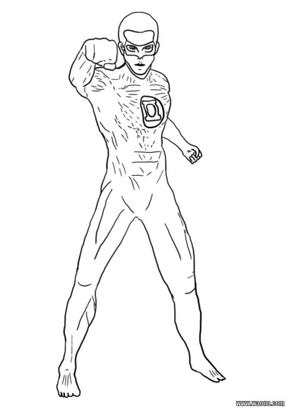 Coloriage Green Lantern Ryan Reynolds