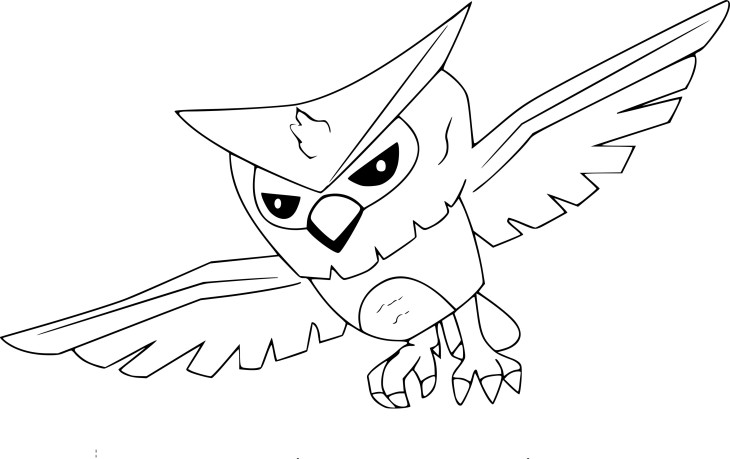 Coloriage hibou Animal Jam