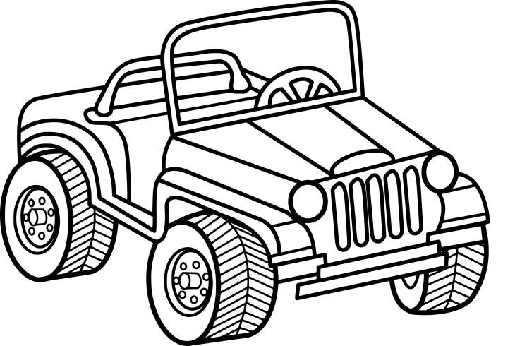 Coloriage jeep imprimer for Jeep da colorare