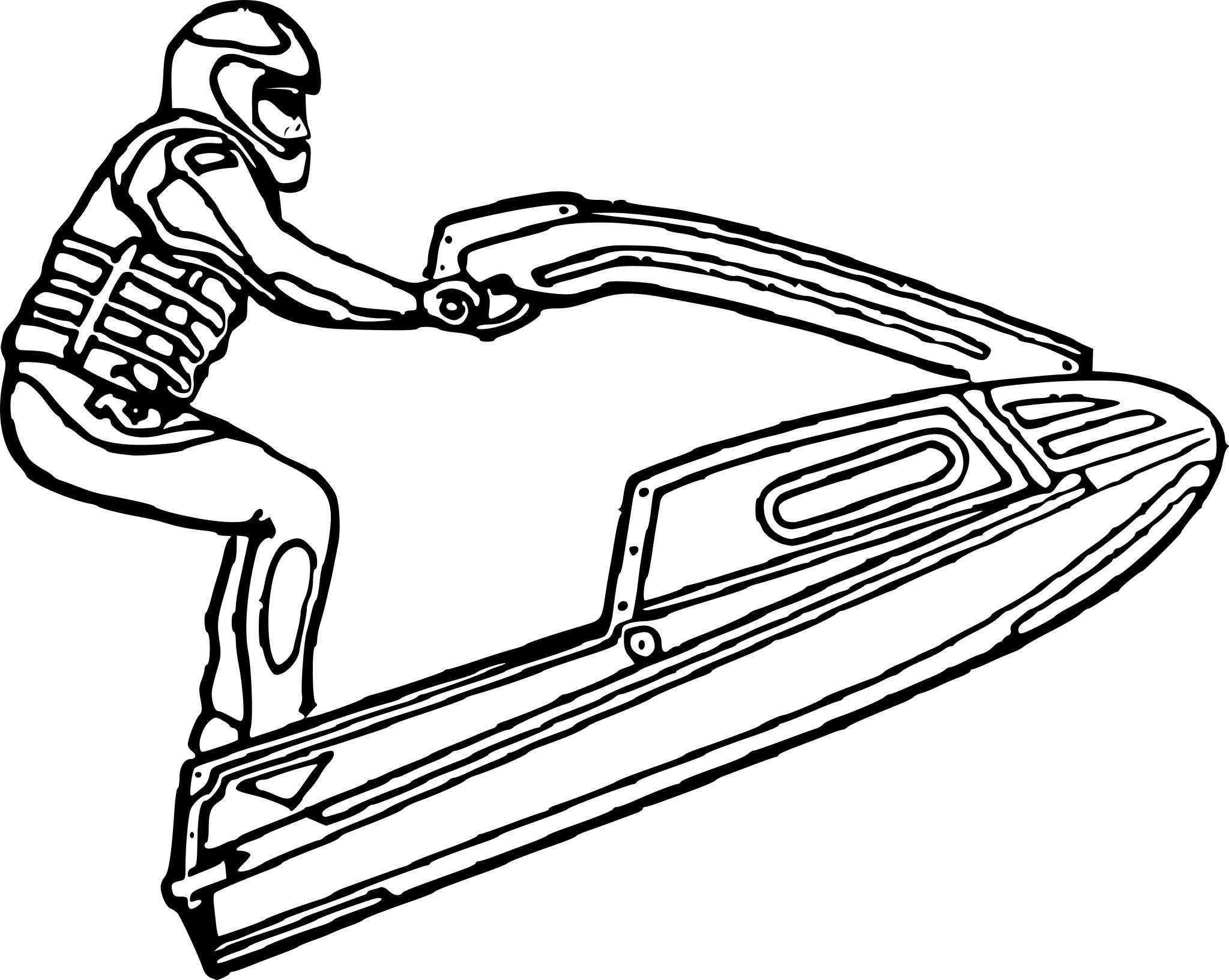 Coloriage Jet Ski à Imprimer