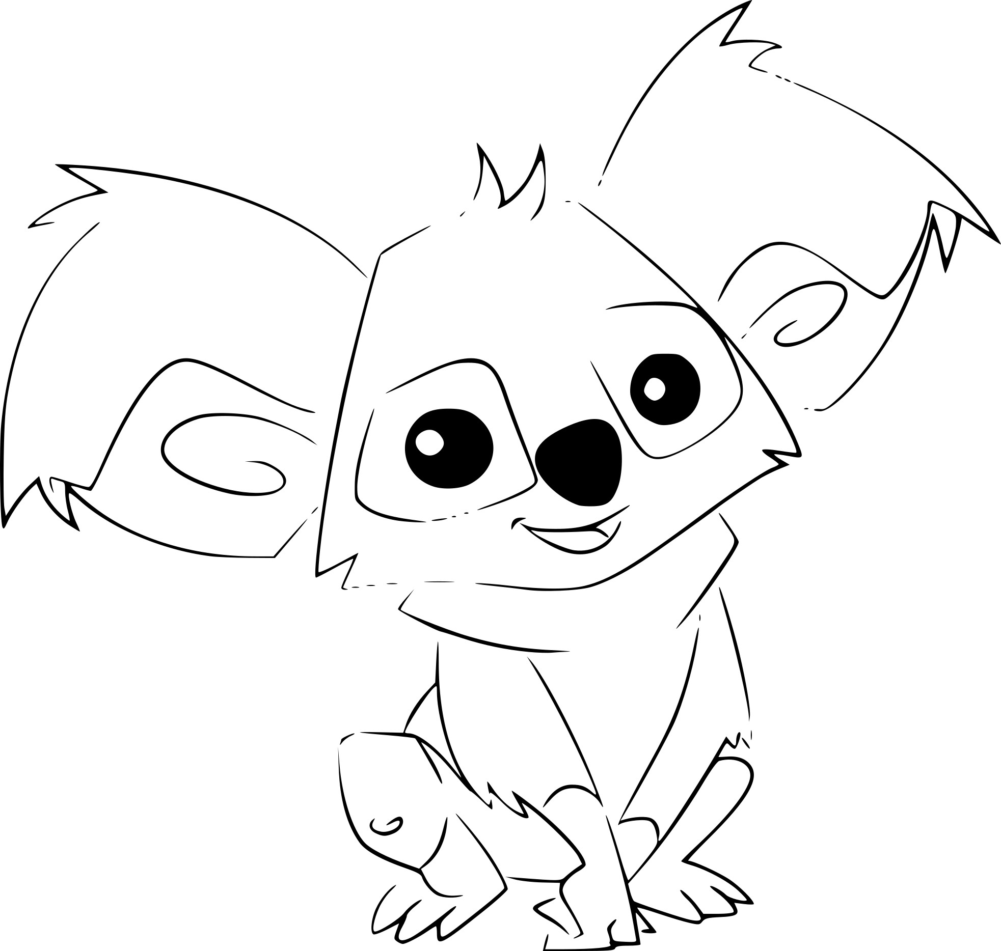 Coloriage Koala Animal Jam