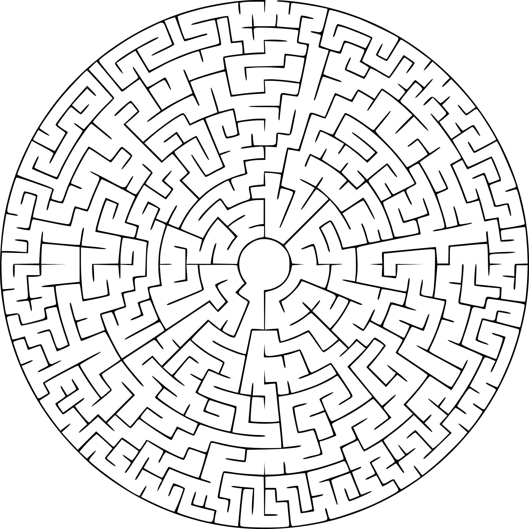Coloriage labyrinthe