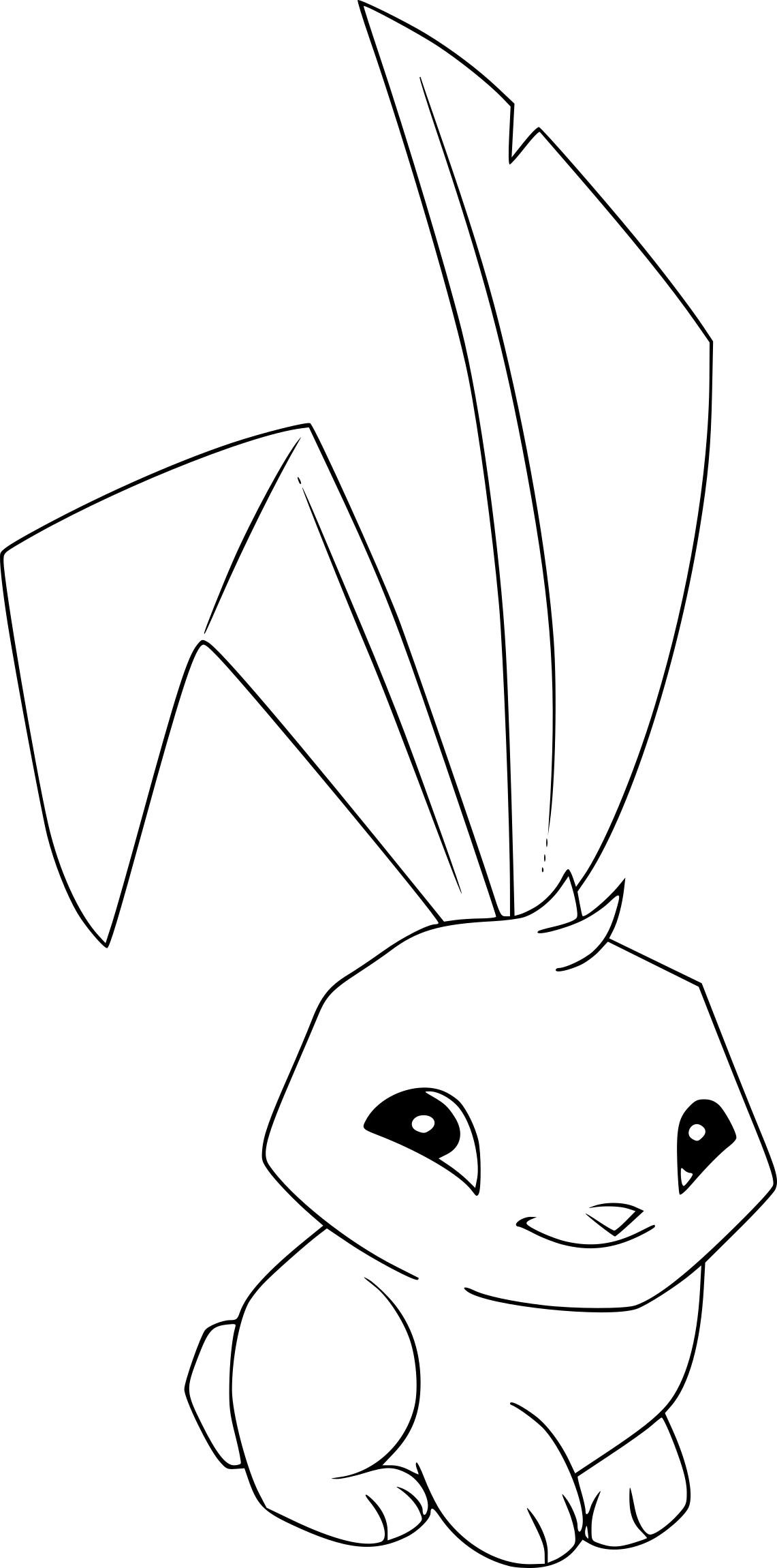 Coloriage lapin Animal Jam