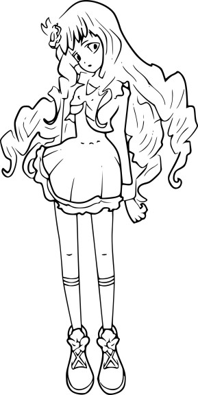 Coloriage Lilie Shirogane