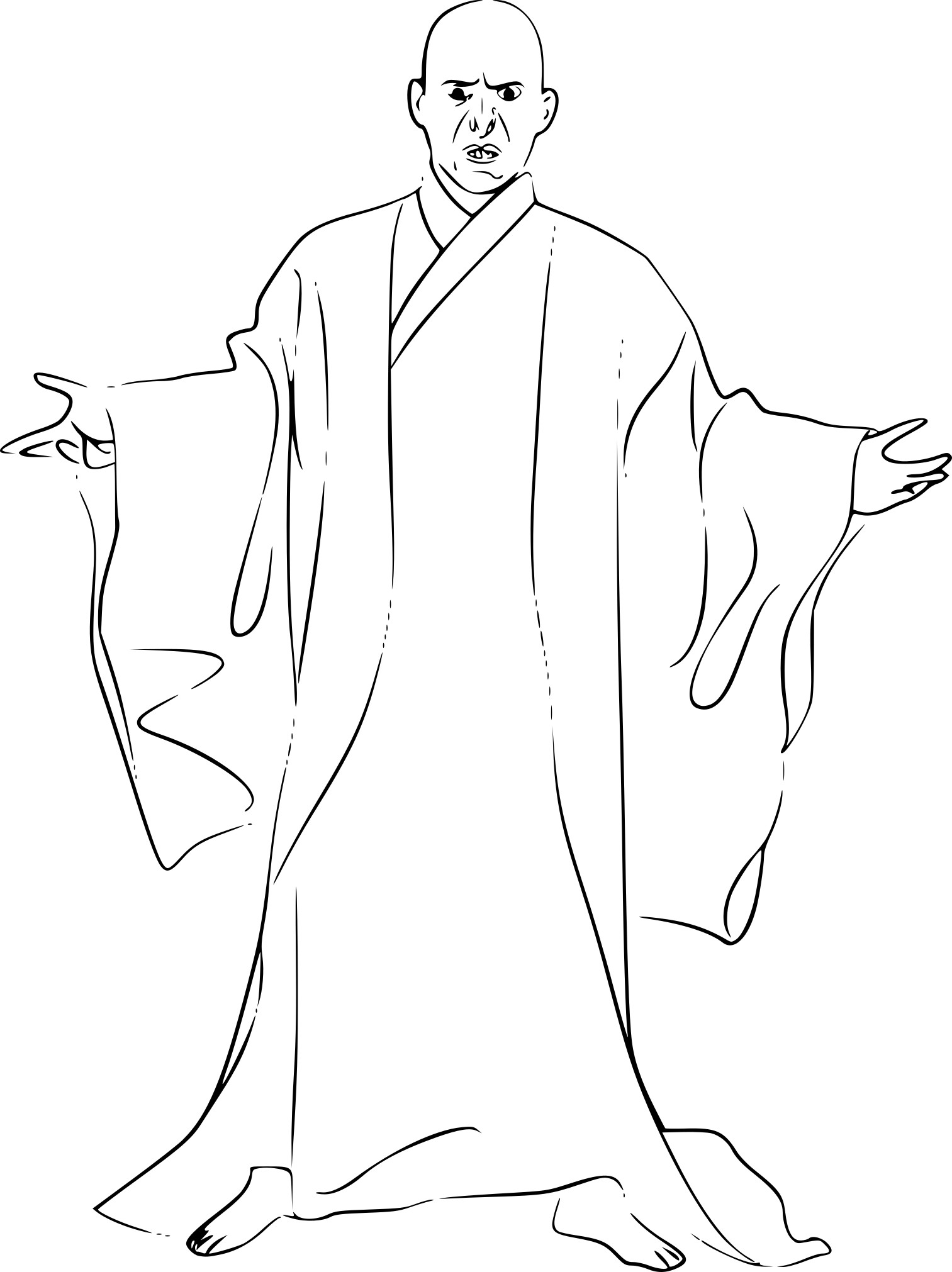 Coloriage Lord Voldemort