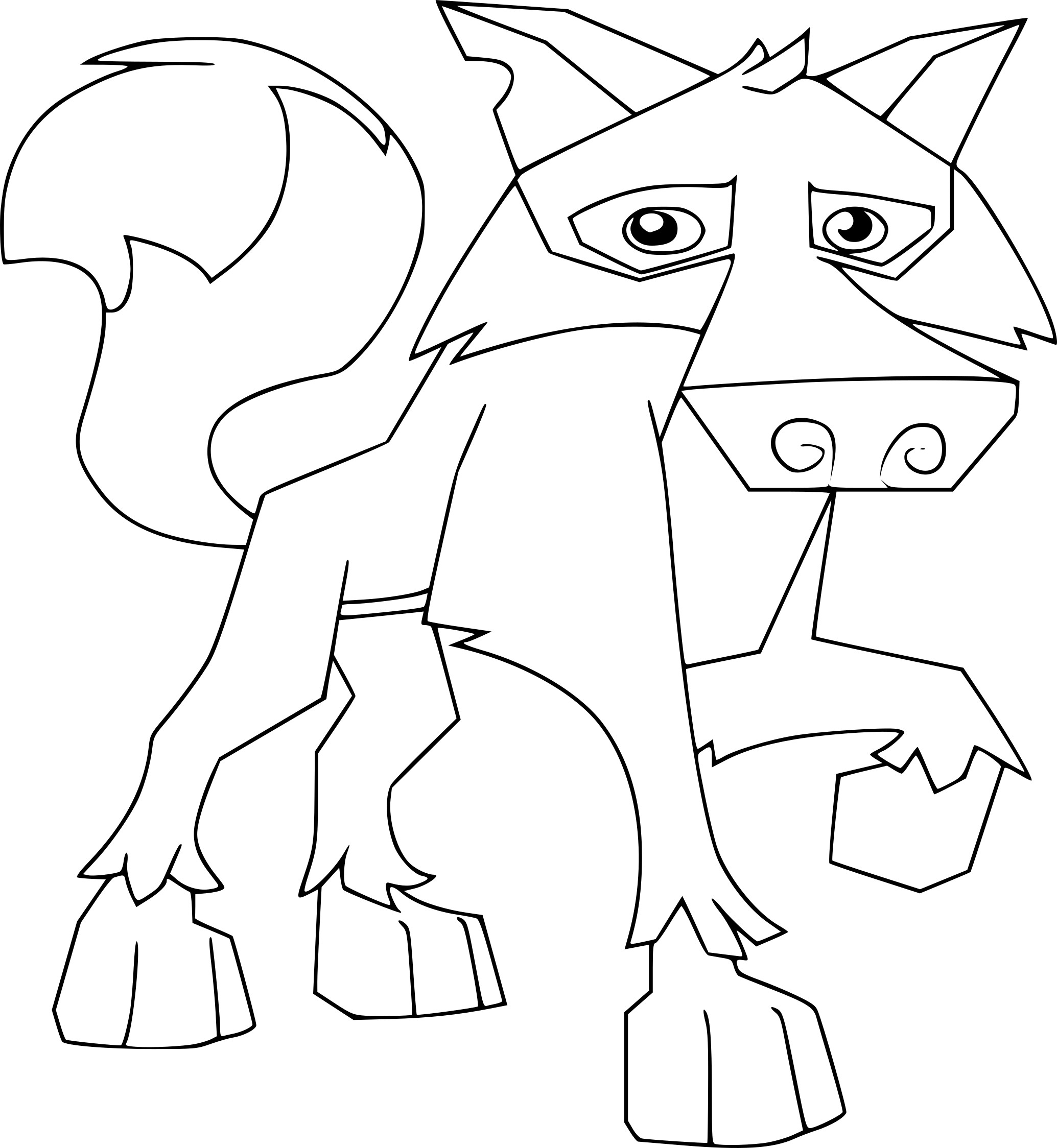 Coloriage loup Animal Jam