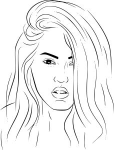 Coloriage Megan Fox