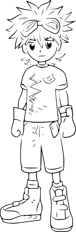 Coloriage Mikey Kudo Digimon