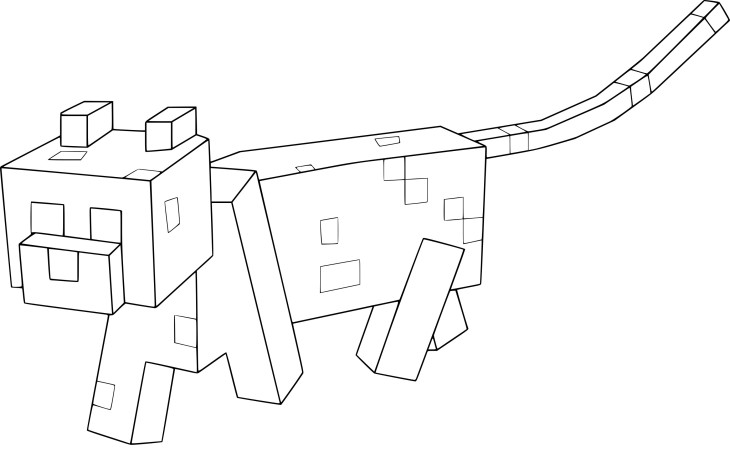 Coloriage Minecraft chat