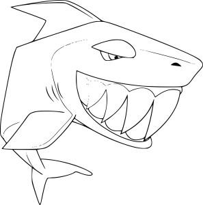 Coloriage requin Animal Jam