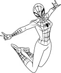 Coloriage Spider Girl