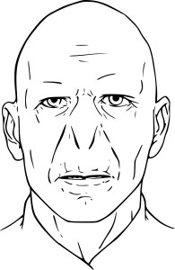 Coloriage Voldemort