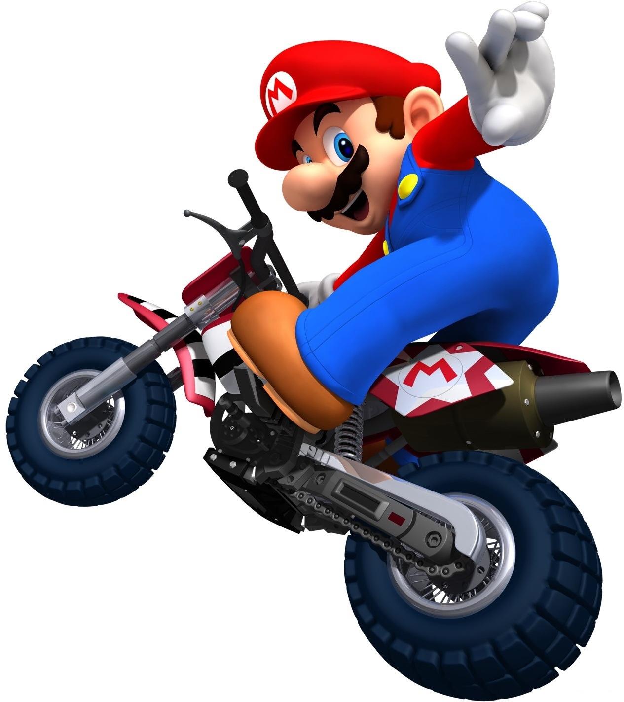 Coloriage Moto Mario A Imprimer