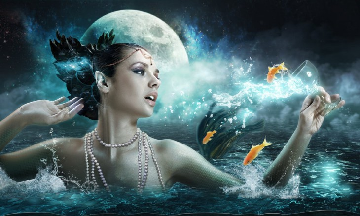 Sirene dans l'eau
